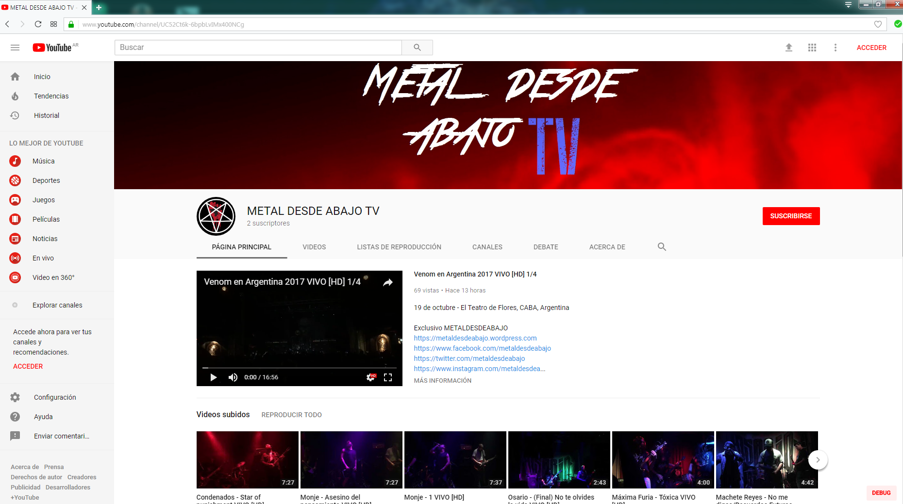 Canal youtube 1
